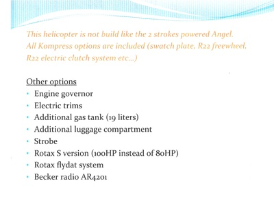Vente hélicoptère Angel Ch7 Angel Ch7