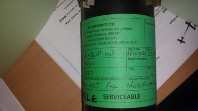 Vente indicateur de virage United Instruments Inc 9560